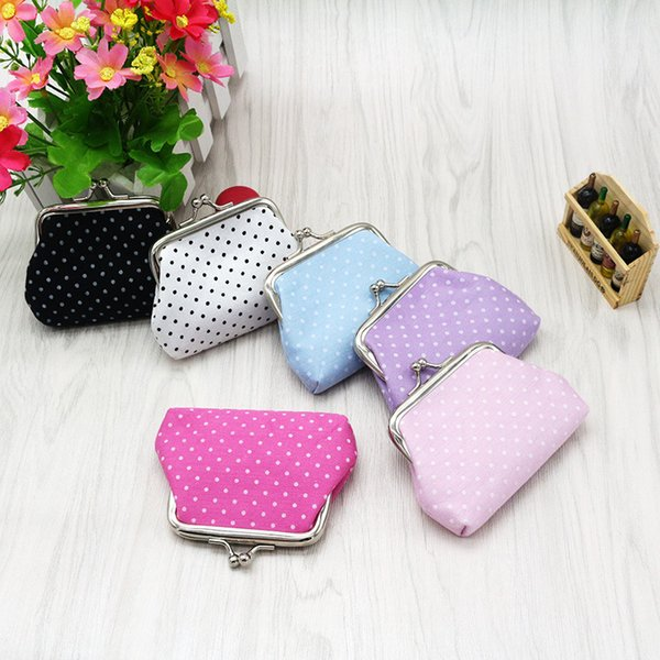 linen dot coin purse women fashion wave stripe coin purse,faux leather zero wallet,lovely girl coins purse wallet (523981594) photo