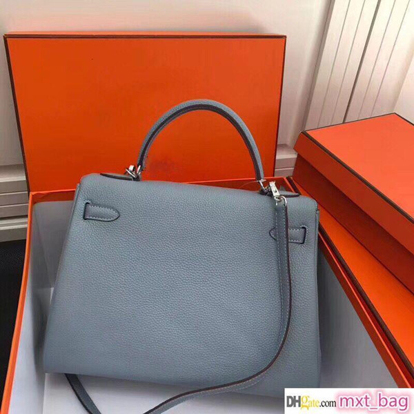 lady bag luxury style women tote designer purse genuine leather purse handbags orange brown ing (526732474) photo