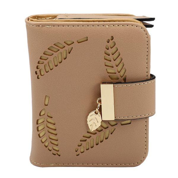 women wallet purse female small wallet lady short wallets(apricot) (525161376) photo