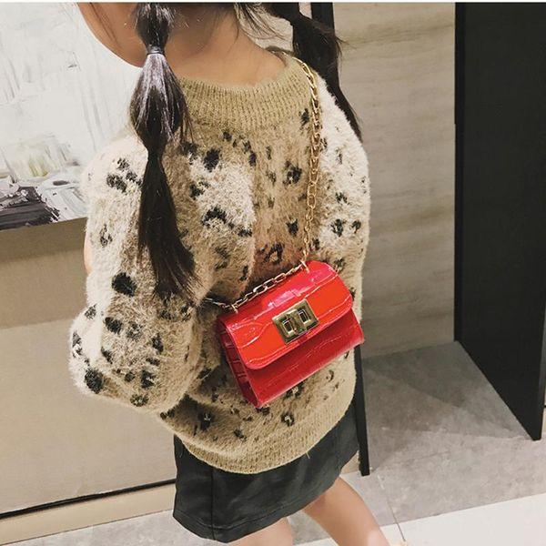 shoulder bags for stone leather crocodile chains crossbody bag hasp handbags children purses clutch messenger bags girl girl (549801433) photo