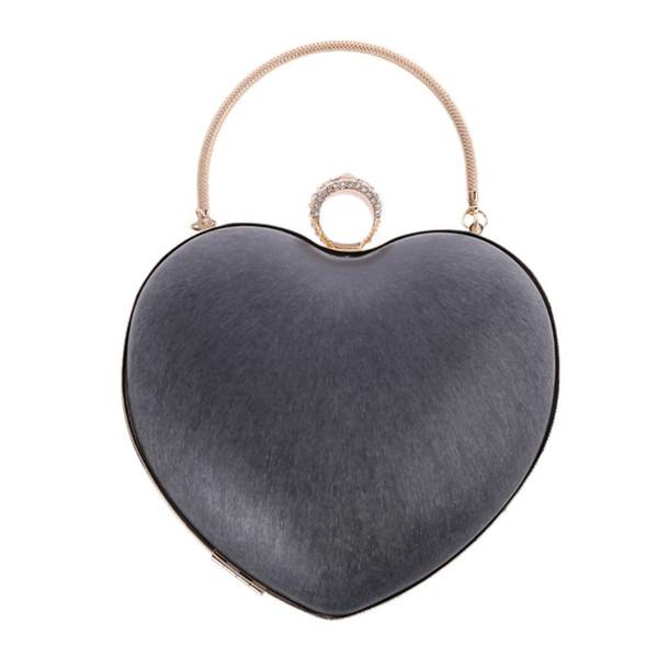 thinkthendo heart shape metal round box purse frame handles for diy handbag evening bag accessories 2019 (503735916) photo