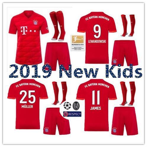 Комплекты для детей 2019 2020 трикотажные изделия Bayern Munich 19 20 LEWANDOWSKI ROBBEN TOLISSO THIAGO футбо фото