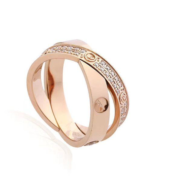 Классическое модное кольцо любители ювелирных изделий из нержавеющей стали обручальное кольцо серебряное розовое Золотое кольцо мужские ювелирные кольца полные бриллиантов обручальные кольца фото