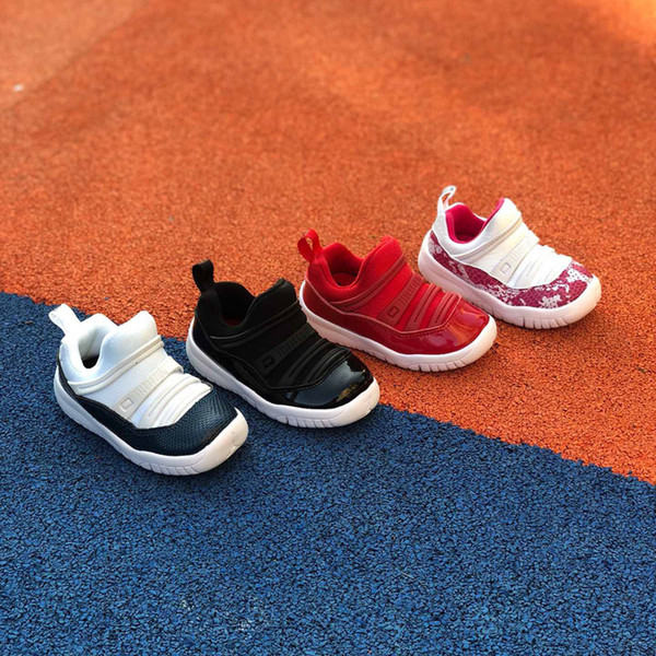 11 Little Flex 11s Space Jam Concord Gym Red Retro Basketball Shoes Children Boy Girls Red Pink Black Sneakers Toddlers Size 22-35