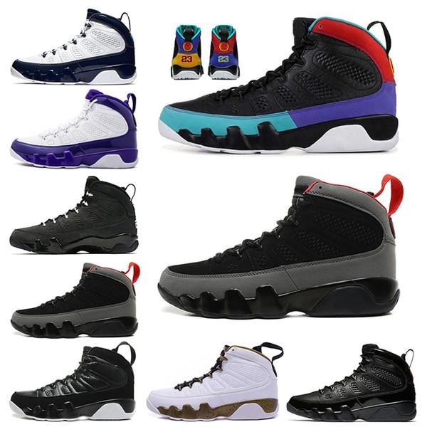 2019 Dream It Do It UNC 9 9s Мужская баскетбольная обувь Антрацит The Spirit Bred Cool Grey PE Спортивные кроссовки 7-13