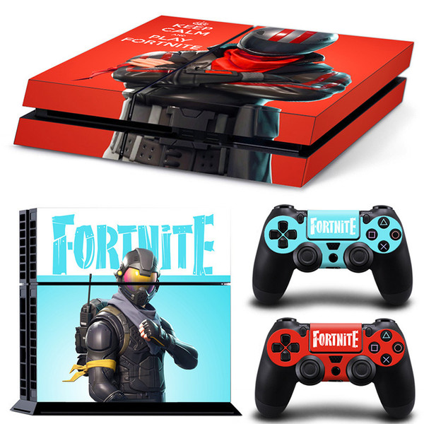 Playstation 4 skins for Game Fortnite Battle Royale Cover PS4 Slim Protective Console System Controller Good Kids Friends Gift