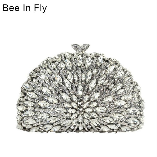 bee in fashion ladies bridal wedding party hollowing out purse women evening party bag diamond luxury clutches discount (533383095) photo