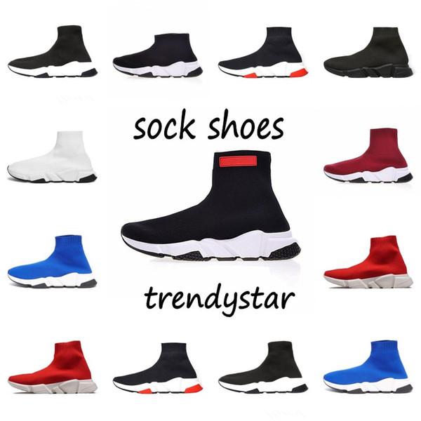 2019 ACE Glitter Flat Мужчины женщины INS balanciaga Скоростные бегунки Racer Mid Sock Shoes белая подошва