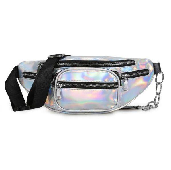 new wholesale handbags purses wholesale women waist bag pu new fashion crossbody bag laser shoulder bags (546345754) photo
