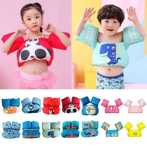 1pc kid's life jacket buoyancy vest swim ring puddle jumper pool water swim vest children swimsuit swimming sports