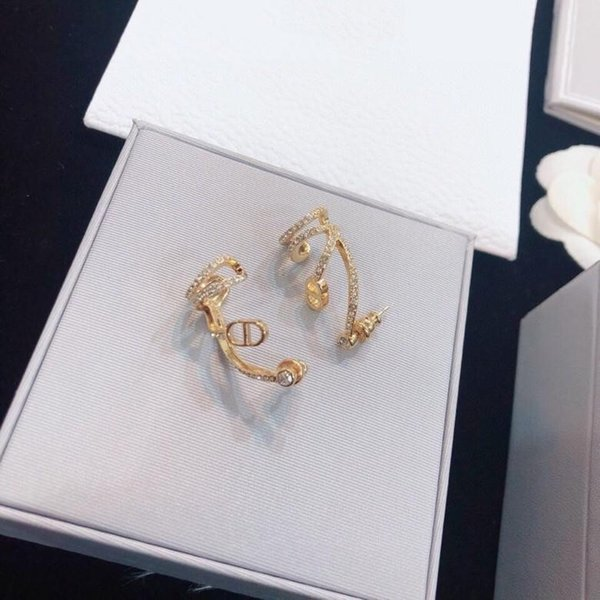 Мода новый стиль продажи личности Алмаз дизайнерские серьги роскошные дизайнерские ювелирные изделия женские серьги фото