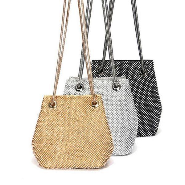 women shoulder bag fashion shiny rhinestone shoulder purse crossbody purse (513428365) photo