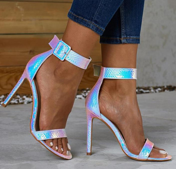 Плюс размер 35 до 42 новые женские туфли серебристо-синие свадебные туфли сексуальные туфли на высоких каблуках насосы фото
