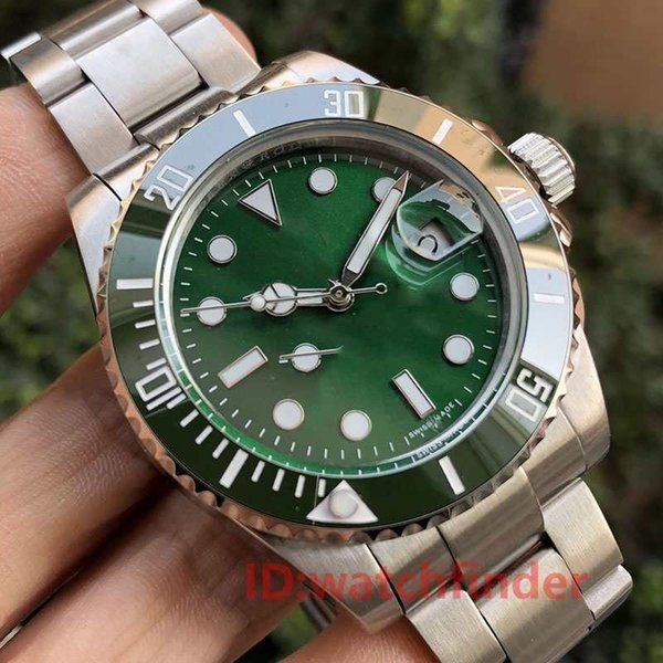 Black green jubilee bracelet ceramic bezel mechanical automatic gmt men luxury men  de igner watch date wri twatche  fa hion watche