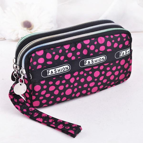 fashion women wallet canvas fabric zipper lady purses moneybags floral dot coin purse clutch wristlet handbag girl wallets burse (485811534) photo