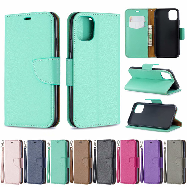 Leather wallet ca e for  am ung note 10 pro a10e iphone 5 8 6 1 6 5 inch 2019 litchi leechee flip holder id card  lot pur e pu cover pouch