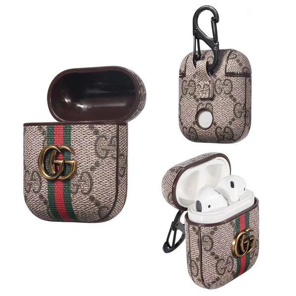 19   for airpod  ca e luxury protective cover hook cla p keychain anti lo t fa hion brand earphone ca e  protector de igner airpod ca e a04