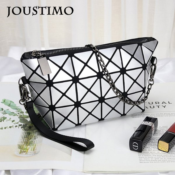 fashion handbags women bags 2020 luxury designer geometric fold clutch purses large capacity evening shoulder bags (517186384) photo