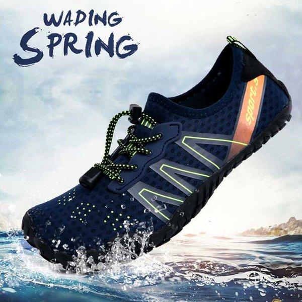 Men Beach Water Shoes Mesh Swimming Aqua Upstream Shoes Non-slip Trekking Hiking Wading Sport Sneakers For Women Seaside Slipper