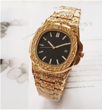 Подарок кварцевые часы Топ часы мужчины роскошные часы Наутилус 5711 Серебряный го
