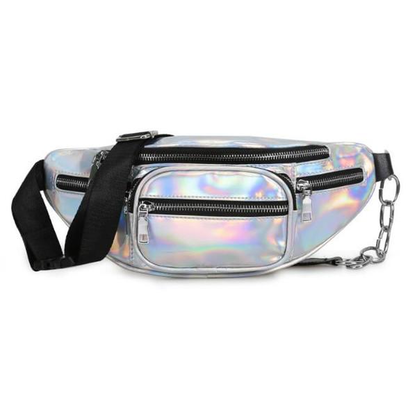 new wholesale handbags purses wholesale women waist bag pu new fashion crossbody bag laser shoulder bags (546345719) photo