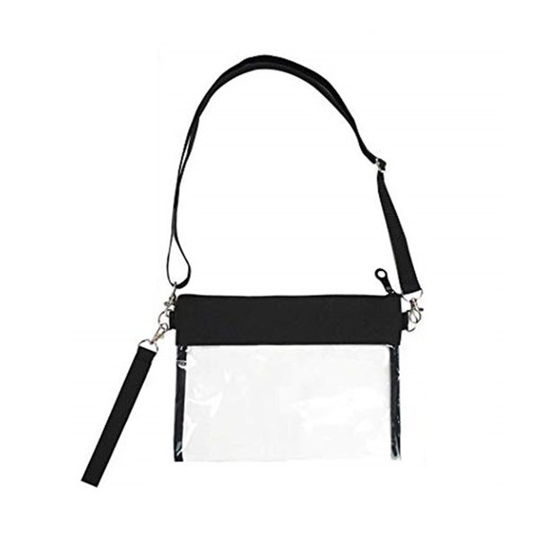 clear crossbody purse bag clear purse with nylon trim fashionable design and fits many occasions (519224053) photo
