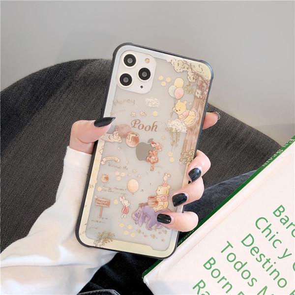 Смазливая мультфильм моды Пух Пух iphone11promaxiphonexsmax следующие XR / iPhone7plus / 7 г / 6 р / г