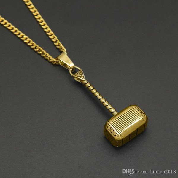 Молот Тора кулон ожерелье для мужчин женщин новая мода хип-хоп ожерелье ювелирные изделия из нержавеющей стали кулон ожерелье фото