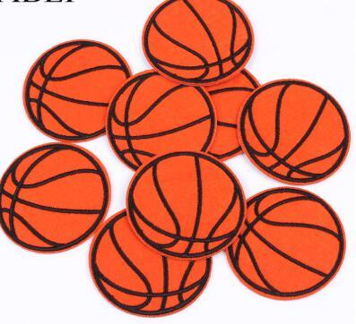 Embroidered Basketball Patch Iron On Sew On Sports Ball appliques Diy Clothing Stickers iron Jeans garment Badge