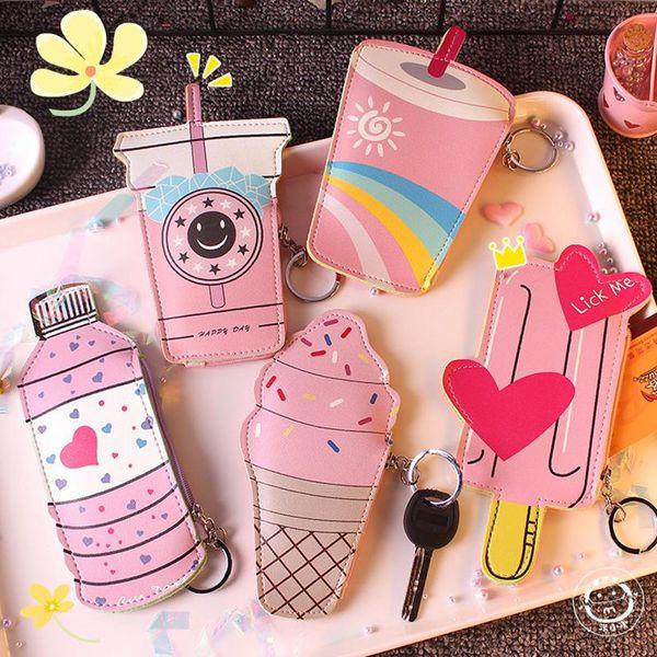 5pcs cartoon cute mini coin purse women kids small zero wallet bag kawaii little girl money card holder cute change purses pouch (493108739) photo