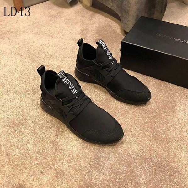 2019 G2-18 New Mens Armani повседневная обувь Luxury Brand мужская обувь Gucci Дизайнер Louis Vuitton спорт