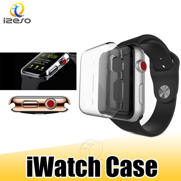 For apple watch ca e pc clear hard protector cover for iwatch  erie  4 3 2 44mm 40mm 42mm 38mm front covered ca e  ize o