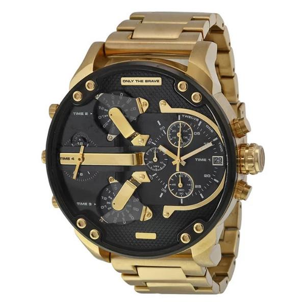Sport men watche big dial di play dz7333 55mm luxury watch quartz watch teel band 7333 fa hion wri twatche for men de igner watch