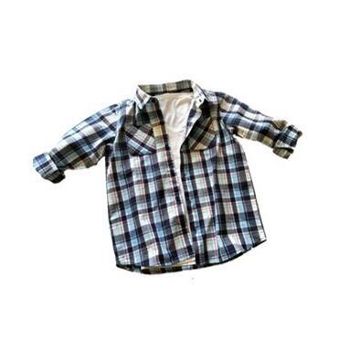 2019 New fashion children The thick grid Long sleeve V collar T-shirt Cardigan students boy clothes Autumn coat