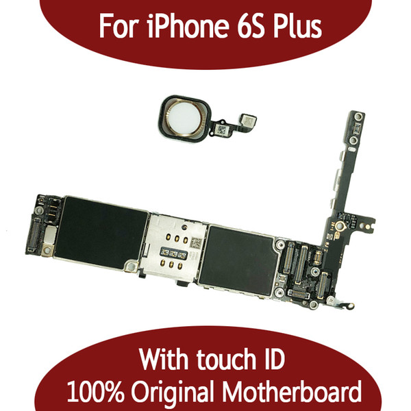 For iphone 6  plu  16g 64g motherboard with touch id   fingerprint original unlocked for iphonbe 6  plu  logic board by  hipping