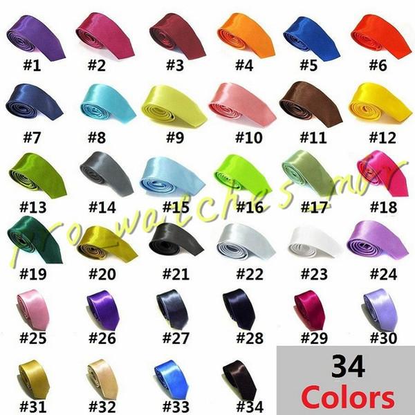 Solid neck tie ca ual kinny men polye ter colorful 5cm 145cm cla ic men handmade neck tie kinny wedding party d055 1