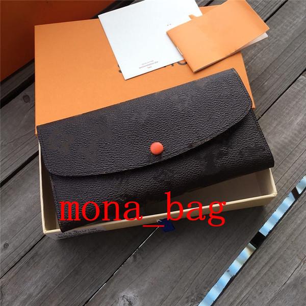fashion ladies long wallet multicolor coin purse card case women classic purse with original box (525205331) photo