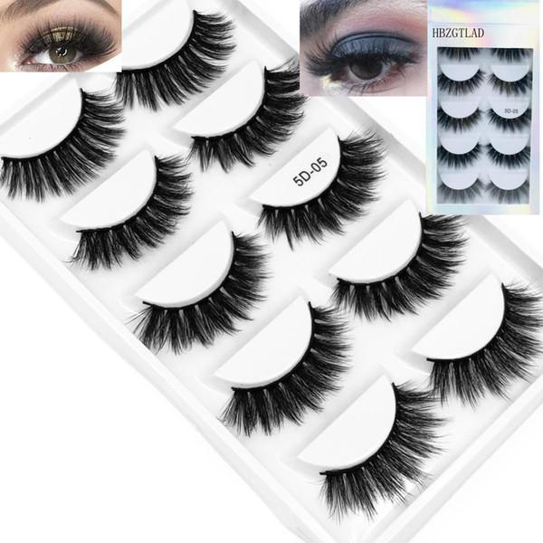 5 пар Multi pack 3D Мягкие норковые волосы Накладные ресницы Ручной работы Тонкие пушис фото