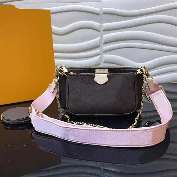 multi pochette accessoires designer handbags purses three in one set bags crossbody messenger shoulder bags purses (501899214) photo