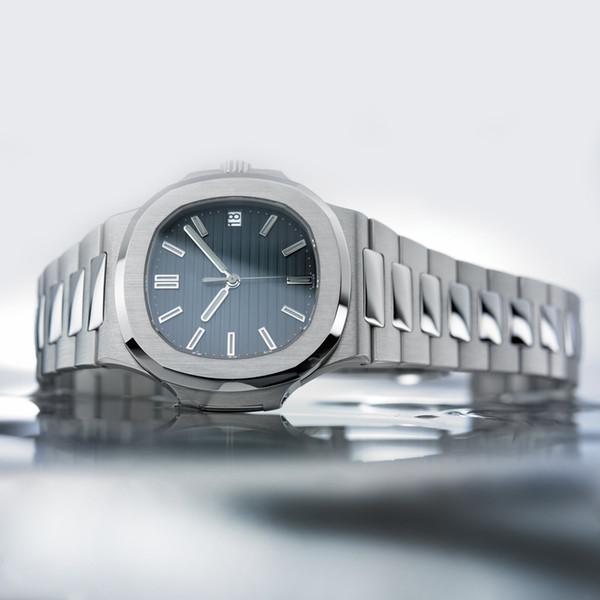 Luxury quartz mens watch new men automatic mechanical calendar 40mm watch 5711 stainless steel men luminous waterproof 50 meters watch