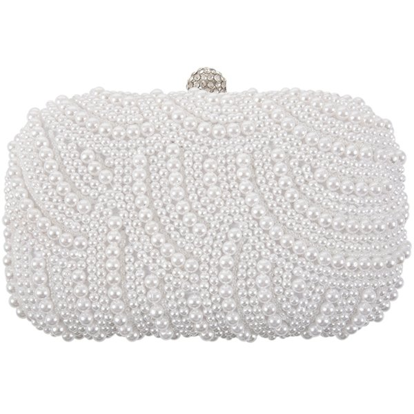 fashion clutch bag beaded party bridal handbag wedding evening purse (526971766) photo