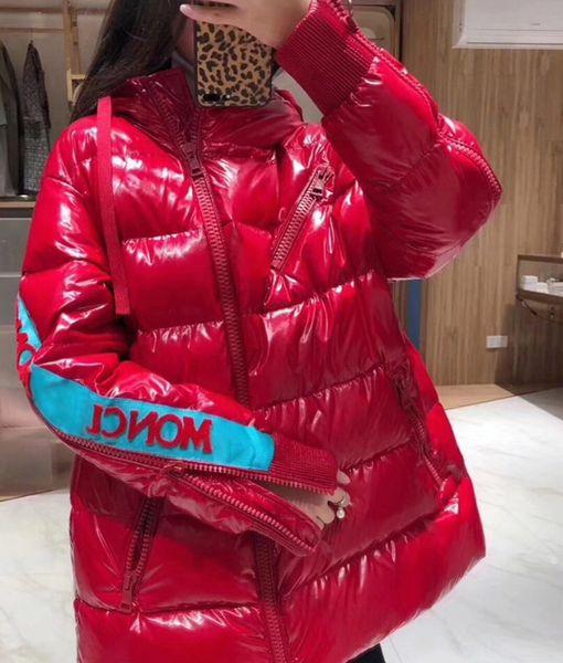 2019 зимняя женская куртка с капюшоном пуховик новое яркое пальто женская короткая фото