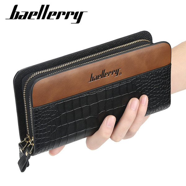 male wallet purse for men large capacity card holder clutch bag long zipper coin purse (515679559) photo
