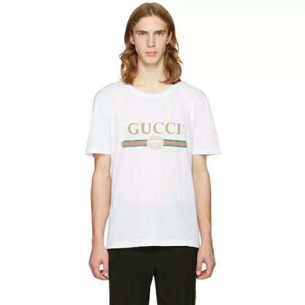 Новая футболка мода Tide Brands футболка дизайнер футболки письмо печать случайные му