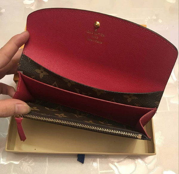Whole ale cla ic tandard wallet fa hion leather long pur e moneybag zipper pouch multicolor coin pocket compartment clutch