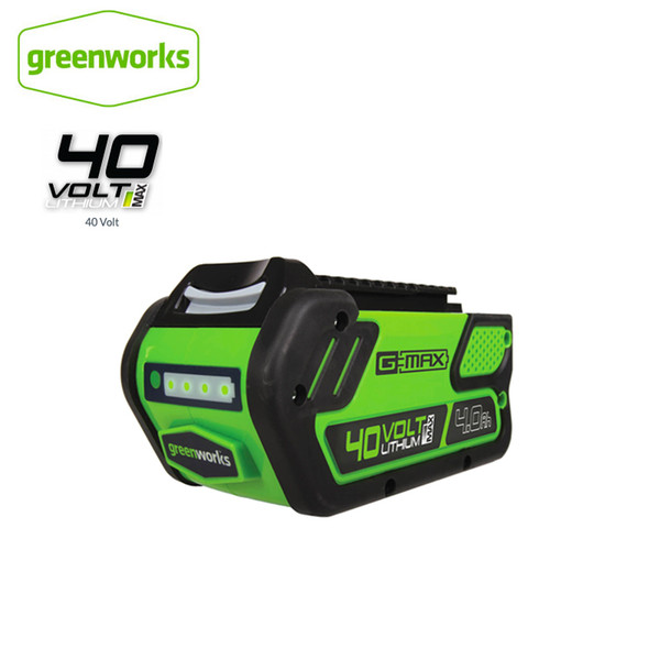 greenworks 29472 g-max 4ah/5ah/6ah li-ion 40v g-max battery eco lithium battery for various products of greenworks (522184459) photo