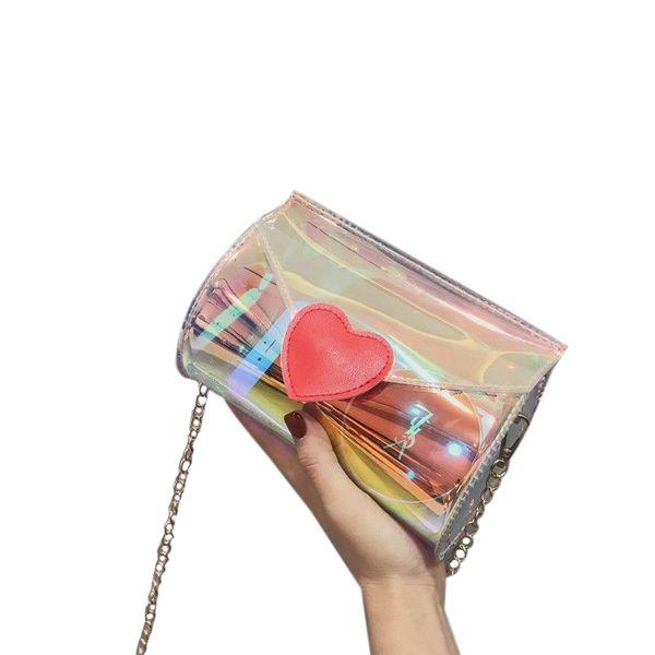 fggs-women's chain shoulder strap purse bag crossbody handbag transparent clear (445116949) photo