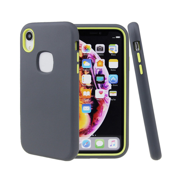 For iphone 11 5 8 6 1 6 5 3 in 1 tpu pc combo  hockproof phone ca e back cover
