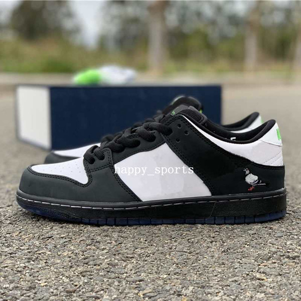 Штапель x SB Dunk Low Pro OG QS скейтборд обувь Panda Pigeon 3.0 модельер спортивные кроссовки чер фото