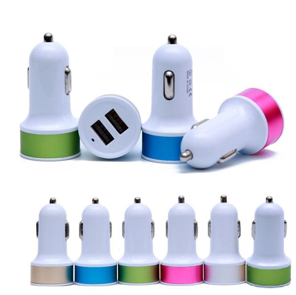 Car charger dual u b 2 port  5v 2 1a car charger adapter for iphone 4 5 6 7 for  am ung htc blackberry mp3 mp4